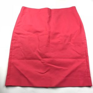 J. Crew Hot Pink Coral Pencil Skirt